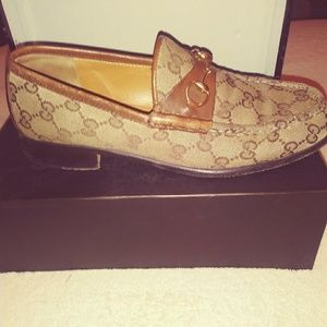 Gucci Shoes - Vintage monogrammed Gucci loafers